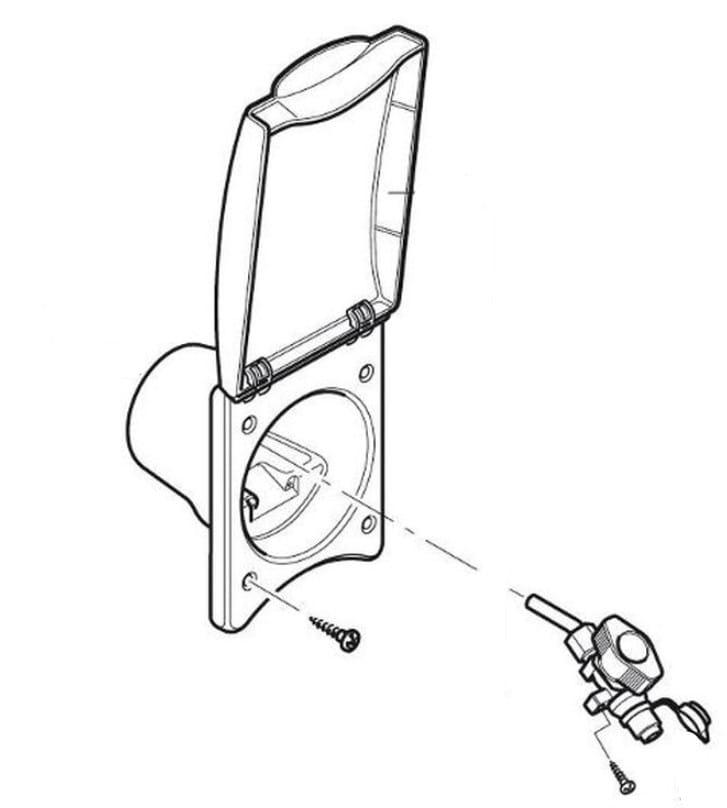Przewody przyłączeniowe do przyczepy kempingowej