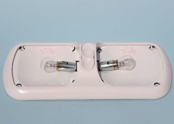 Lampa Oświetlenia Wnętrza Duo Biała Do Kampera Przyczepy Kempingowej